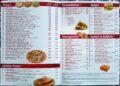 Speisekarte, Pizza und DönerGerichte.
