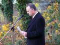Volkstrauertag 2010 in Dollbergen, Bürgermeister Jürgen Buchholz.